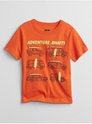 Oranžové klučičí dětské tričko GAP mix and match graphic t-shirt