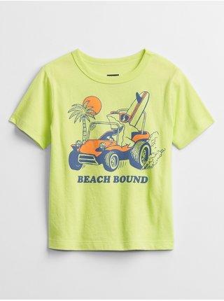 Zelené klučičí dětské tričko mix and match graphic t-shirt
