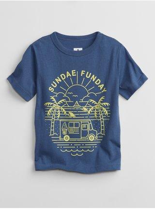 Modré klučičí dětské tričko mix and match graphic t-shirt