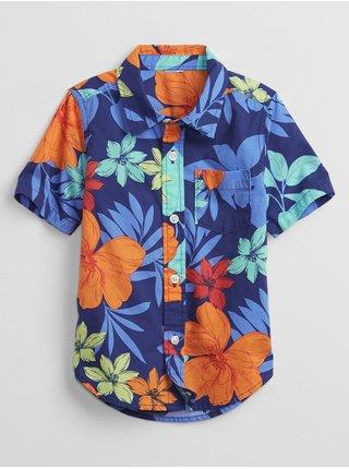 Barevná klučičí dětská košile GAP poplin shirt
