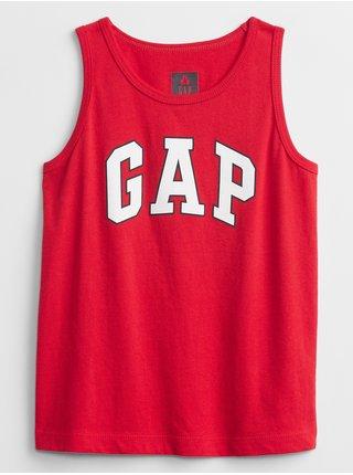 Červené klučičí dětské tílko GAP Logo tank top