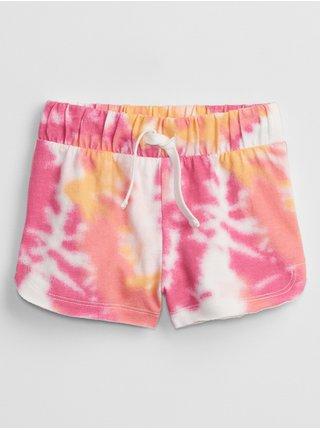 Barevné holčičí dětské kraťasy print knit shorts