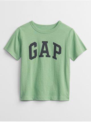 Zelené klučičí dětské tričko GAP Logo t-shirt