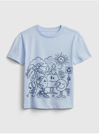 Modré klučičí dětské tričko gen good graphic t-shirt