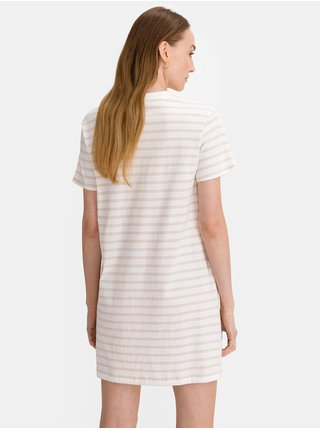 Bílé dámské tričko vé šaty GAP Logo t-shirt dress