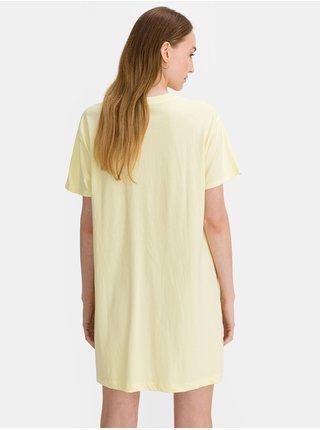 Žluté dámské tričko vé šaty GAP Logo t-shirt dress
