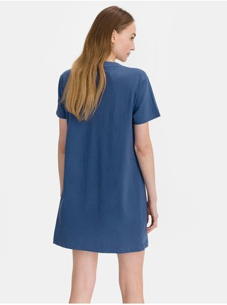 Modré dámské tričkové šaty GAP Logo t-shirt dress