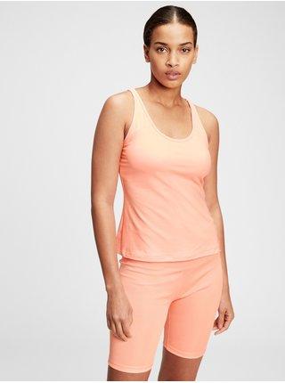 Oranžové dámské tričko GAP brushed jersey keyhole back shelf tank