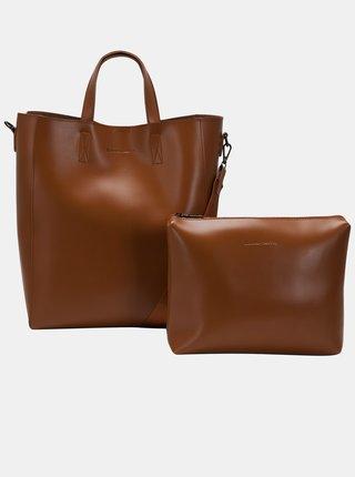 Hnedá veľká kabelka s odnímateľným púzdrom Claudia Canova