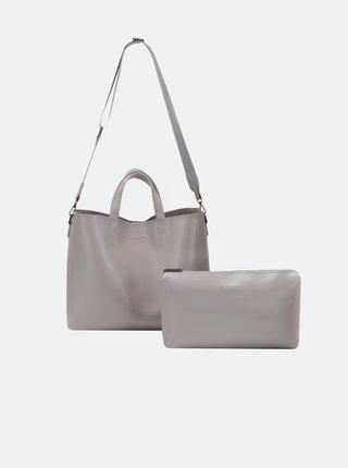 Šedá kabelka s odnímatelným pouzdrem Claudia Canova