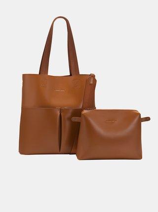Hnedá kabelka s odnímateľným púzdrom Claudia Canova