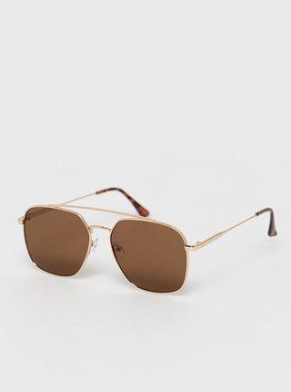 Pánské sluneční brýle ve zlaté barvě ALDO Adolpho