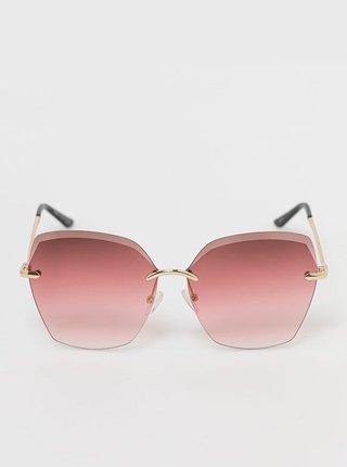 Dámské sluneční brýle ve zlaté barvě ALDO Istada