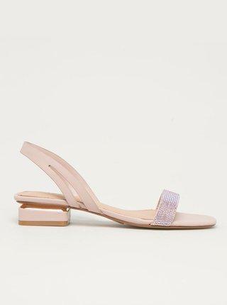Světle růžové sandálky na nízkém podpatku ALDO Adreilla