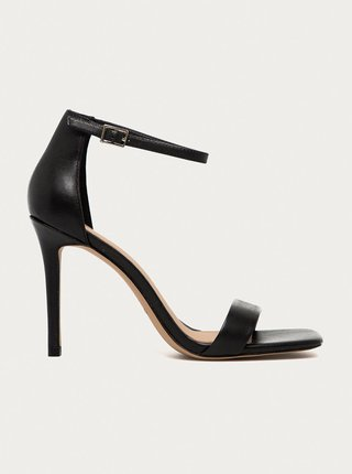 Černé kožené sandálky na vysokém podpatku ALDO Afendaven