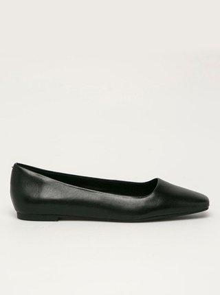Černé kožené baleríny ALDO Derith