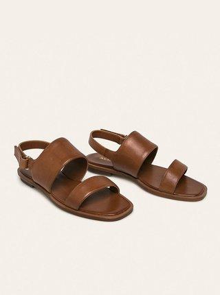 Hnedé dámske kožené sandále ALDO Sula