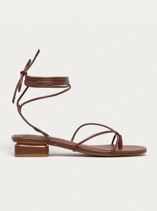 Tmavě hnědé sandálky na nízkém podpatku ALDO Giannaflex
