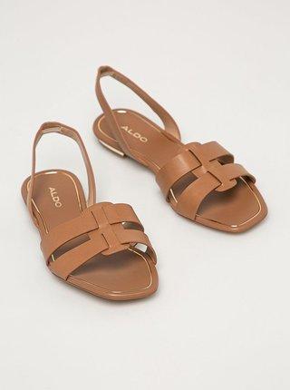 Hnědé dámské sandály ALDO Lothathiel