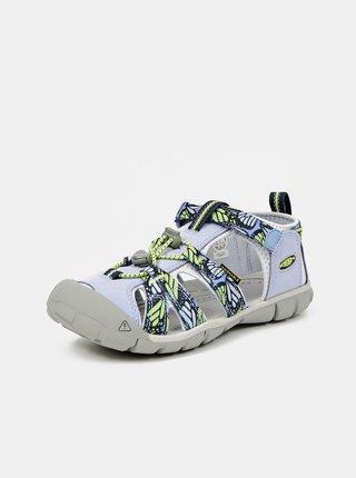 Zeleno-modré holčičí vzorované sandály Keen