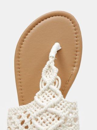 Krémové krajkové sandály Hailys