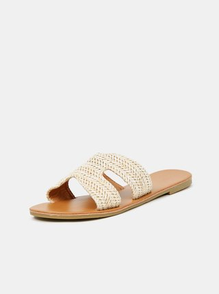 Béžové pantofle Hailys