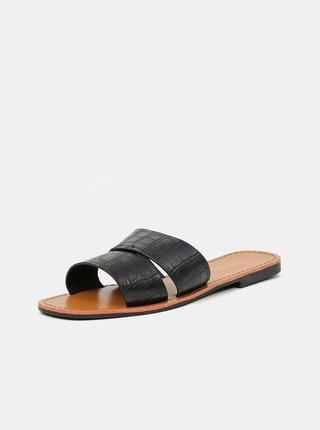Černé vzorované pantofle Hailys