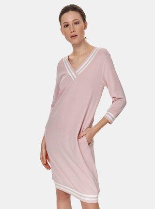 Růžové šaty s kapsami TOP SECRET