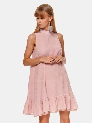 Růžové šaty s volánem TOP SECRET