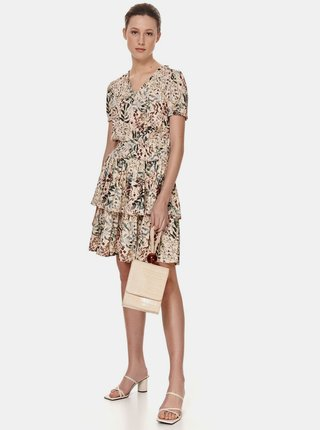 Krémové květované šaty TOP SECRET