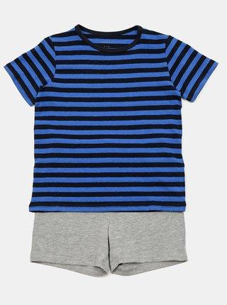 Sada dvou klučičích pyžam v modré barvě name it Number