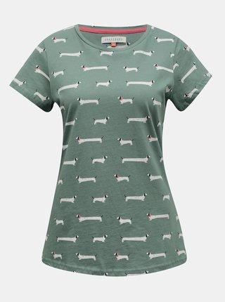 Zelené dámské vzorované tričko Brakeburn