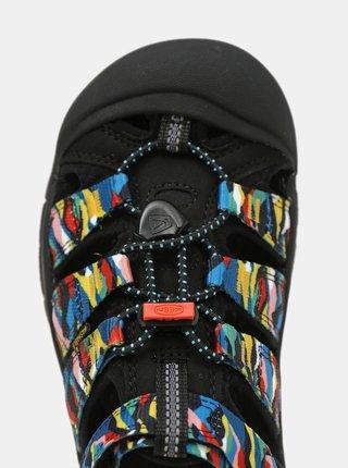 Modro-čierne detské vzorované sandále Keen