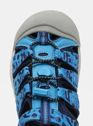 Modré klučičí vzorované sandály Keen