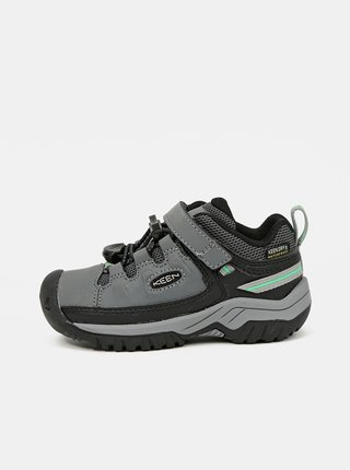 Šedé dětské kožené boty Keen