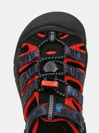 Čierne detské vzorované sandále Keen