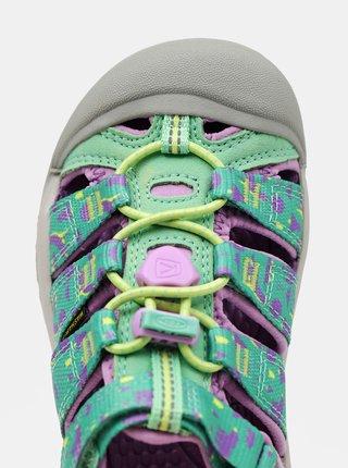 Fialovo-zelené holčičí vzorované sandály Keen
