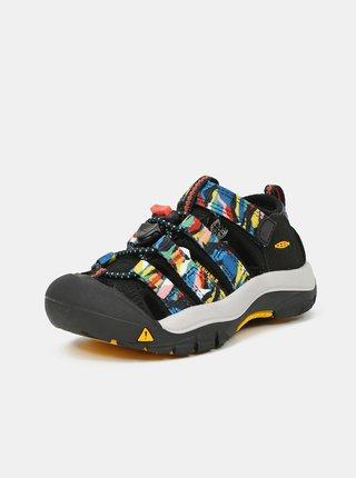 Černé klučičí vzorované sandály Keen