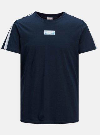 Tmavě modré tričko s potiskem Jack & Jones Flow