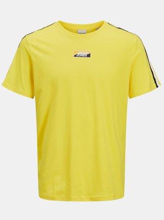Žlté tričko s potlačou Jack & Jones Flow
