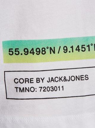 Bílé tričko s potiskem Jack & Jones Goods