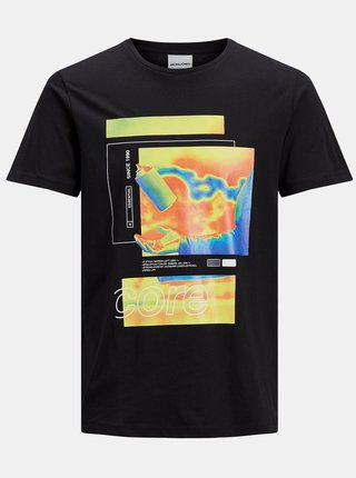 Černé tričko s potiskem Jack & Jones Goods