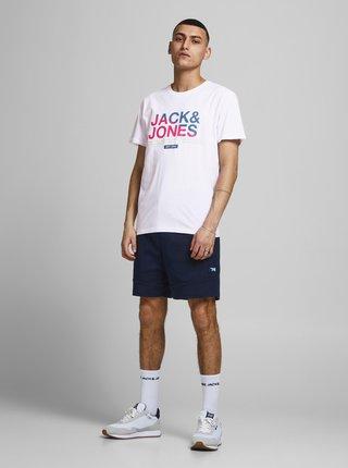 Bílé tričko s potiskem Jack & Jones Slices