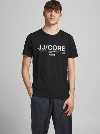 Černé tričko s potiskem Jack & Jones Slices