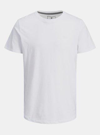 Biele tričko s nášivkou Jack & Jones Trick
