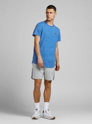 Modré žíhané tričko s nášivkou Jack & Jones Trick