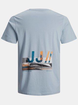 Svetlomodré tričko s potlačou Jack & Jones Walk