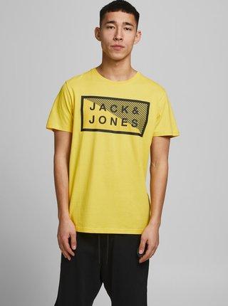 Žlté tričko s potlačou Jack & Jones Shawn