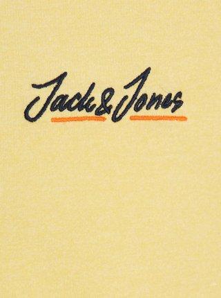 Žlté tričko s nápisom Jack & Jones Tons