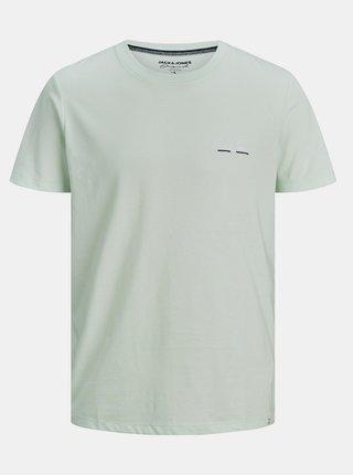 Světle zelené tričko s nápisem Jack & Jones Tons
